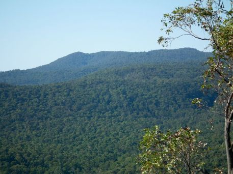 Mt Strathbogie and Golden Mount, from Rocky Ned Lookout.