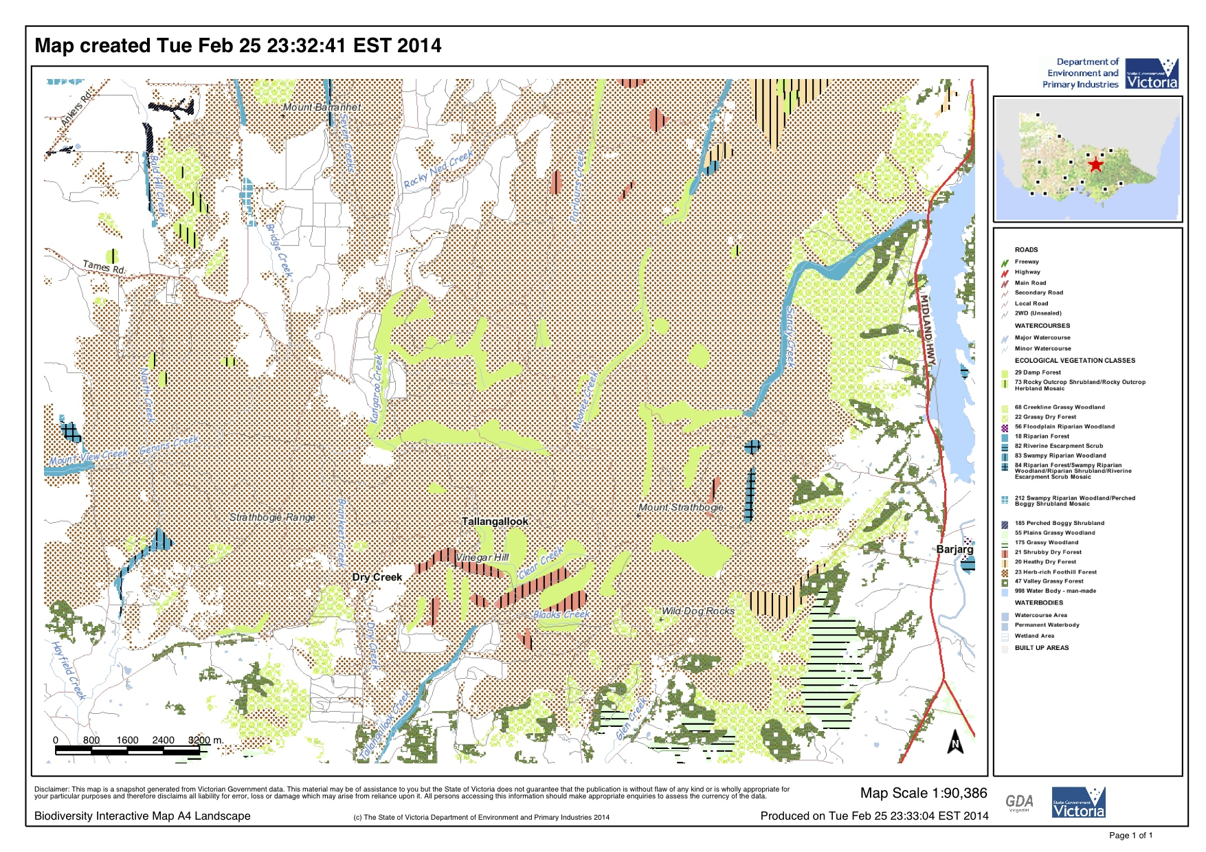 map strathbogie forest southern evc our strathbogie forest