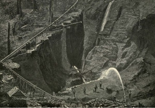 Gold mining 1800's (Source unknown)