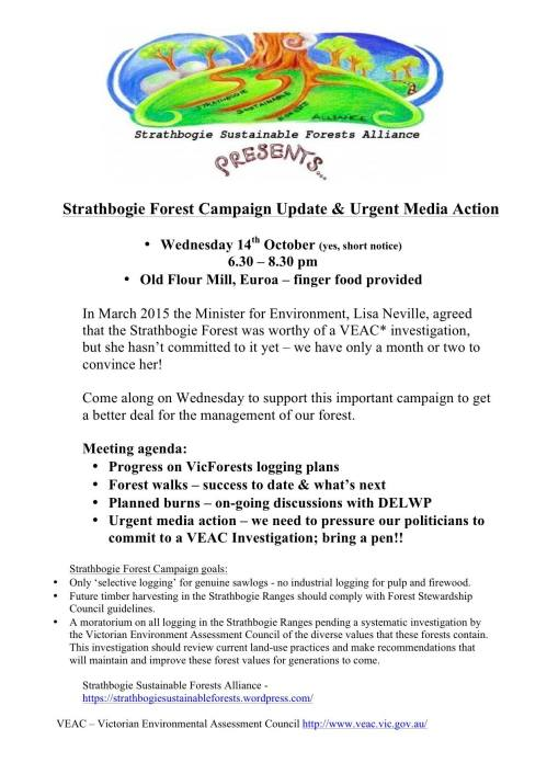 Strathbogie Forest Update Oct 2 2015